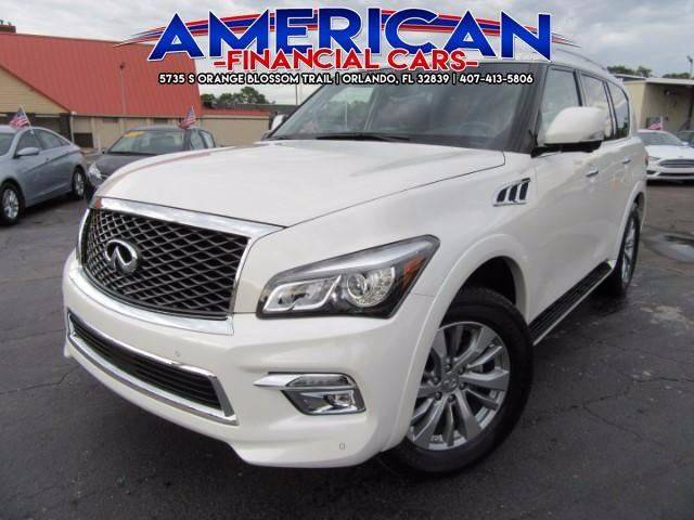 2017 Infiniti QX80 for sale at American Financial Cars in Orlando FL