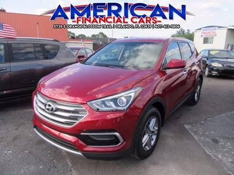 2017 Hyundai Santa Fe Sport for sale at American Financial Cars in Orlando FL