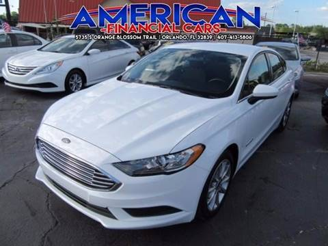 2017 Ford Fusion Hybrid for sale at American Financial Cars in Orlando FL