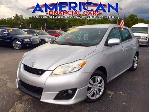 2009 Toyota Matrix for sale at American Financial Cars in Orlando FL