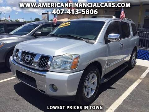 2005 Nissan Armada for sale at American Financial Cars in Orlando FL