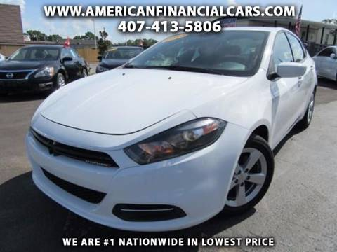 2016 Dodge Dart for sale at American Financial Cars in Orlando FL