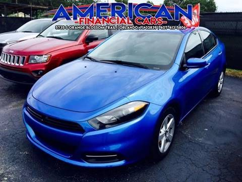 2015 Dodge Dart for sale at American Financial Cars in Orlando FL