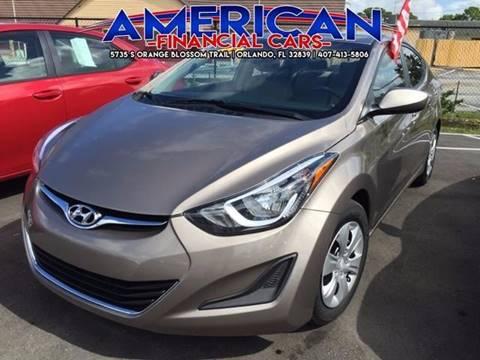 2016 Hyundai Elantra for sale at American Financial Cars in Orlando FL