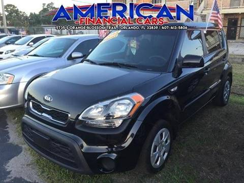 2013 Kia Soul for sale at American Financial Cars in Orlando FL