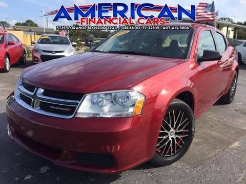 2014 Dodge Avenger for sale at American Financial Cars in Orlando FL