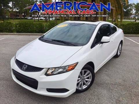 2012 Honda Civic for sale at American Financial Cars in Orlando FL