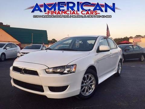 2013 Mitsubishi Lancer for sale at American Financial Cars in Orlando FL