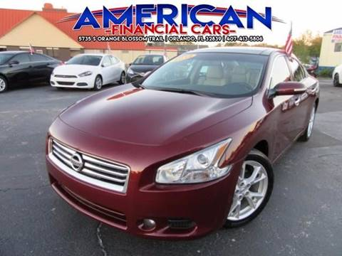2013 Nissan Maxima for sale at American Financial Cars in Orlando FL