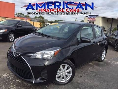 2016 Toyota Yaris for sale at American Financial Cars in Orlando FL