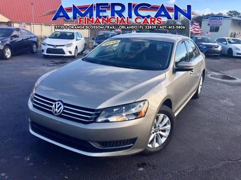 2015 Volkswagen Passat for sale at American Financial Cars in Orlando FL