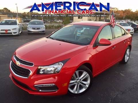 2015 Chevrolet Cruze for sale at American Financial Cars in Orlando FL