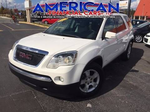 2009 GMC Acadia for sale at American Financial Cars in Orlando FL