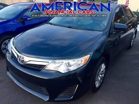 2013 Toyota Camry for sale at American Financial Cars in Orlando FL