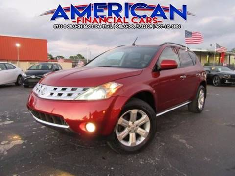 2007 Nissan Murano for sale at American Financial Cars in Orlando FL
