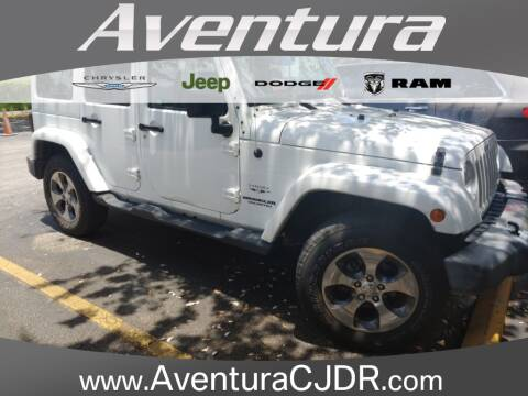 2017 Jeep Wrangler Unlimited for sale at Aventura Chrysler Dodge Jeep Ram in North Miami Beach FL