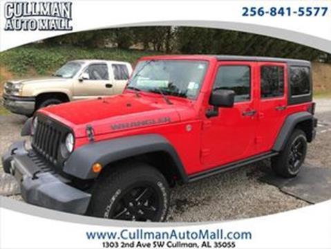 2016 Jeep Wrangler Unlimited for sale in Cullman, AL
