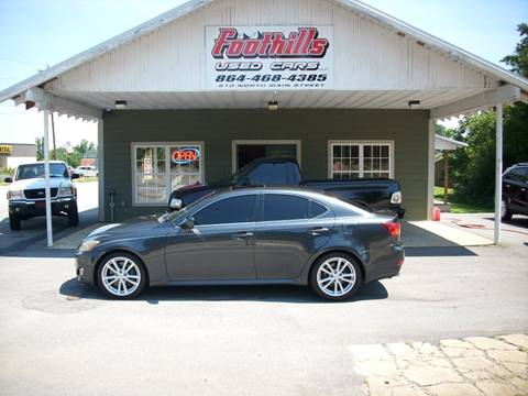 2006 Lexus IS 350 for sale at Foothills Used Cars LLC in Campobello SC