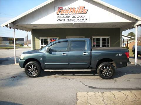 2004 Nissan Titan for sale at Foothills Used Cars LLC in Campobello SC