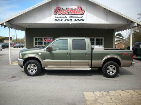 2004 Ford F-250 Super Duty for sale at Foothills Used Cars LLC in Campobello SC