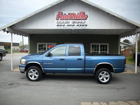 2006 Dodge Ram Pickup 1500 for sale at Foothills Used Cars LLC in Campobello SC