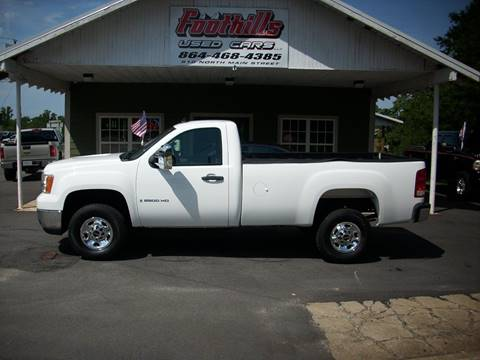 2009 GMC Sierra 2500HD for sale at Foothills Used Cars LLC in Campobello SC