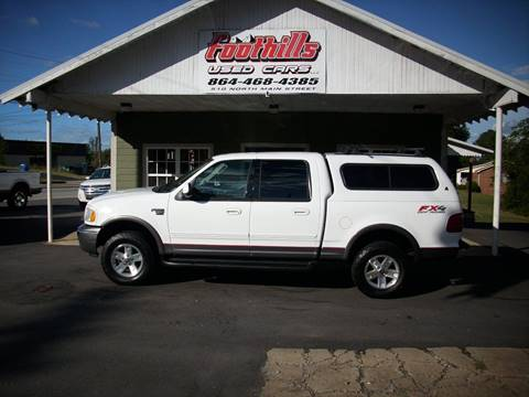 2003 Ford F-150 for sale at Foothills Used Cars LLC in Campobello SC