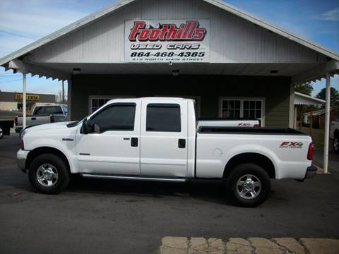 2005 Ford F-250 Super Duty for sale at Foothills Used Cars LLC in Campobello SC