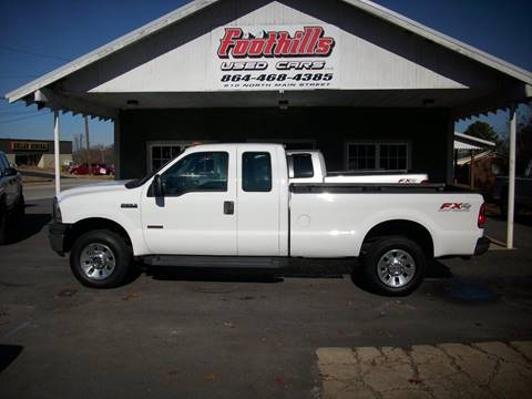 2007 Ford F-250 Super Duty for sale at Foothills Used Cars LLC in Campobello SC
