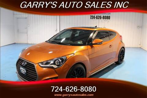 Garrys Auto Sales >> 2016 Hyundai Veloster Turbo For Sale In Dunbar Pa