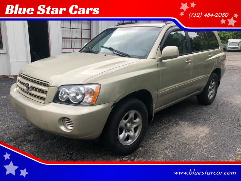2003 Toyota Highlander for sale at Blue Star Cars in Jamesburg NJ