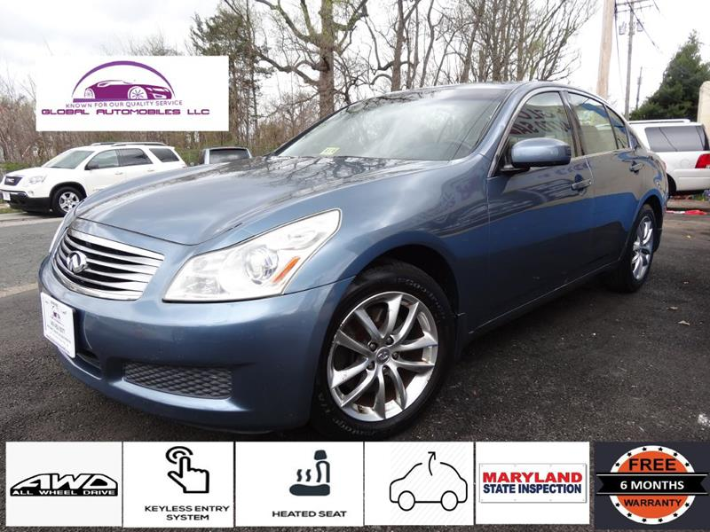 awd serviced sedan automobiles infiniti used detail recently excellent condition infinity