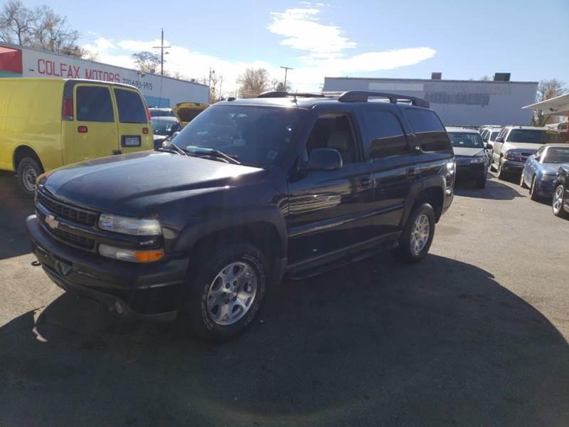 2005 Chevrolet Tahoe Lt 4wd 4dr Suv In Denver Co Colfax Motors