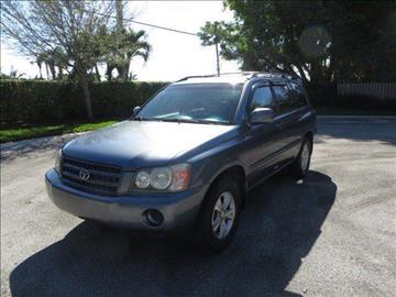 2003 Toyota Highlander for sale at FLORIDA CAR TRADE LLC in Davie FL