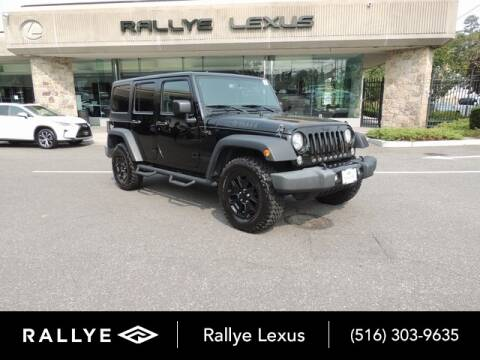 2017 Jeep Wrangler Unlimited for sale at RALLYE LEXUS in Glen Cove NY