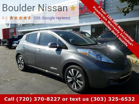 2016 Nissan LEAF for sale in Boulder, CO