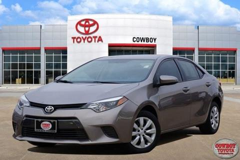 2016 Toyota Corolla for sale at Cowboy Toyota in Dallas TX