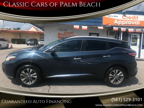 2015 Nissan Murano SL for sale at Classic Cars of Palm Beach in Jupiter FL