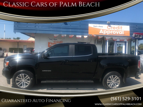 2016 GMC Canyon SLE for sale at Classic Cars of Palm Beach in Jupiter FL