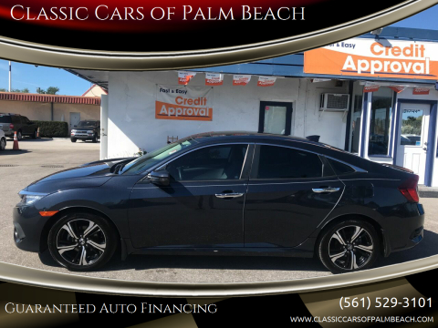 2016 Honda Civic Touring for sale at Classic Cars of Palm Beach in Jupiter FL