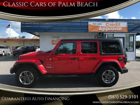 2020 Jeep Wrangler Unlimited for sale at Classic Cars of Palm Beach in Jupiter FL