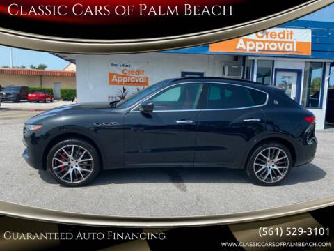 2017 Maserati Levante for sale at Classic Cars of Palm Beach in Jupiter FL