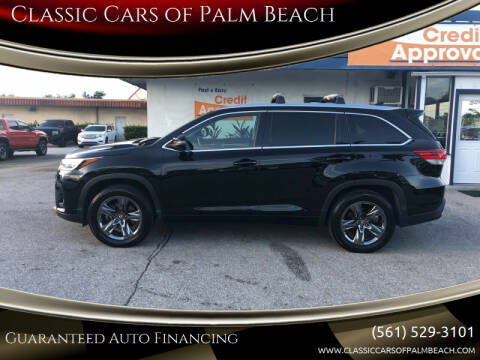2018 Toyota Highlander for sale at Classic Cars of Palm Beach in Jupiter FL