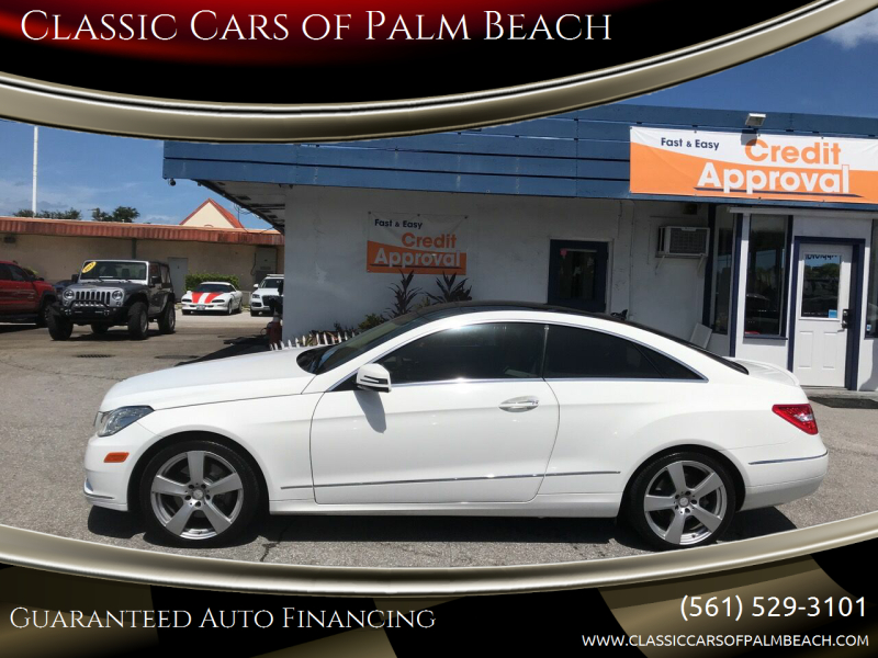 2013 Mercedes-Benz E-Class for sale at Classic Cars of Palm Beach in Jupiter FL