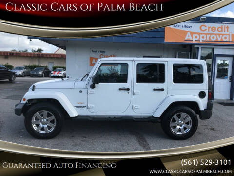 2015 Jeep Wrangler Unlimited for sale at Classic Cars of Palm Beach in Jupiter FL