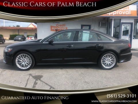 2016 Audi A6 for sale at Classic Cars of Palm Beach in Jupiter FL