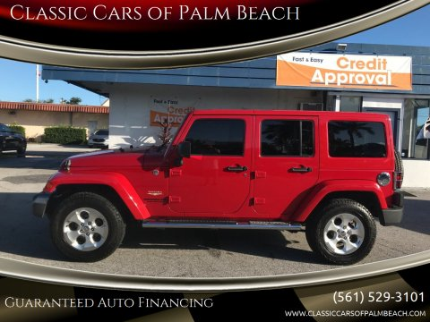 2014 Jeep Wrangler Unlimited for sale at Classic Cars of Palm Beach in Jupiter FL