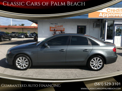 2012 Audi A4 for sale at Classic Cars of Palm Beach in Jupiter FL