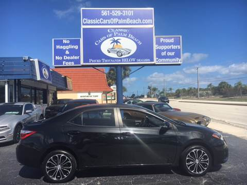 2015 Toyota Corolla for sale in Jupiter, FL