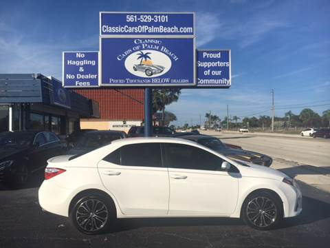 2016 Toyota Corolla for sale in Jupiter, FL